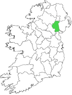 Location of county Armagh
