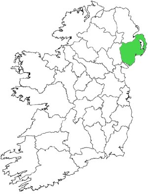 Location of county Down